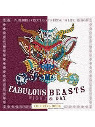 FABULOUS BEASTS NIGHT & DAY COLORING BOOK